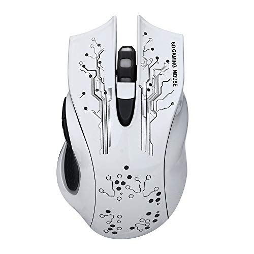KERULA USB Kabel 5500 DPI 6Buttons Optical Gaming Mouse LED 6 Hintergrundbeleuchtung für PC LaptopMaus Computer Ergonomische Leise Tragbar Wiederaufladbar MäUse Kabellos Tasten Mit ()