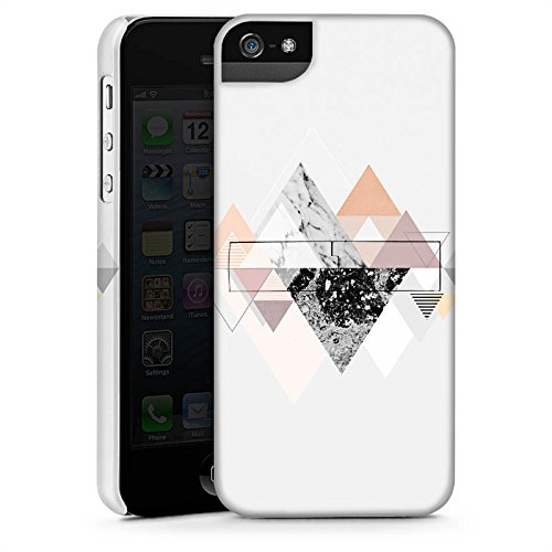 Apple iPhone X Silikon Hülle Case Schutzhülle Abstrakt Dreieck Art Premium Case StandUp