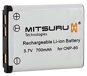 Mitsuru® Batteria di riserva per Casio Exilim EX-G1 EX-H5 EX-N1 EX-N10 EX-N20 EX-N5 EX-N50 EX-Z1 EX-Z16EX-Z270 EX-Z2 EX-Z20 EX-Z270 EX-Z28 EX-Z280 EX-Z330 EX-Z350 EX-Z550 EX-Z800 EX-ZS100 EX-ZS150 EX-ZS5 EX-ZS6 adatta a Casio NP-80 NP80