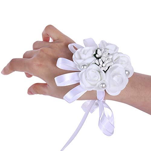 ChYoung Hochzeit Braut Mädchen Brautjungfer Handgelenk Corsage Ribbon Floral Hand Armband Party Flower Decor -