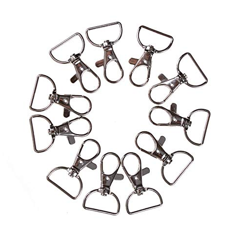 Hooks - Zinc Alloy Metal Lanyard Hook Swivel Snap Hooks Key Chain Clasp Clips Bag Hardware 10pcs Set - Chain Clasp Clasps Hooks Hook Gold Black Parts Rings Heavy Clip Card Duty Plastic Bu
