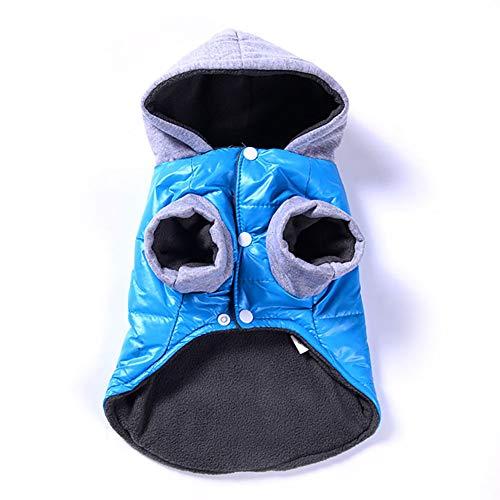 AAGOOD Winter-warme CostuWinter Warme Kleidung Jacken-Mantel-Kleid für Haustier-Hund-Katze-Welpen Haustier Snowsuit windundurchlässigen Welpe Parka-Mantel Hund Winterjacke Hood Dog Warm Outwea -