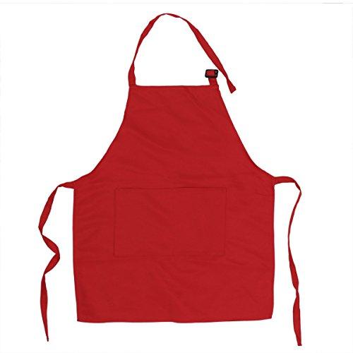 �rzen mit Taschen Küchenschürze Grillschürze Modische Apron für Küche Community Aktivität Party Handwerk Kunst Malerei Rot One Size ()