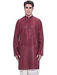 Manyavar Men's Knee-Long Blended Kurta (ML11804)
