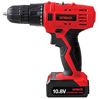 Amtech V6505 10.8-Volt Li-Ion Cordless Rechargeable Drill Driver 2 Year Warranty