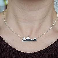 Collar Montañas Plata, Colgante Montañas, Gargantilla con Montañas, Colgante con Montañas de Plata