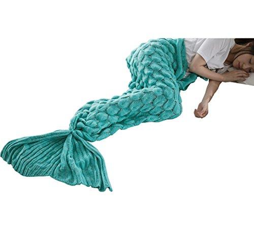 Das beste Mädchen Meerjungfrau Schlafsack Kostüm Fischschwanz fishscales Decke Schwanz Flosse Handgemachte Blanket Häkel