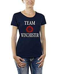 Touchlines Damen Girlie T-Shirt Team Winchester Bros Luzifer