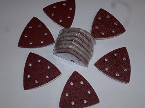 120unidades. Wolfcraft–Lija para lijadora (93mm lijado triangulares para lijadora delta Mix grano 40–60–80–120–180–240