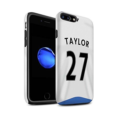 Officiel Newcastle United FC Coque / Matte Robuste Antichoc Etui pour Apple iPhone 7 Plus / Tioté Design / NUFC Maillot Domicile 15/16 Collection Taylor