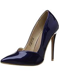 c4ce9d24bf7 Lost Ink Women s Talulah Sweetheart Cut Court Shoe Closed Toe Heels