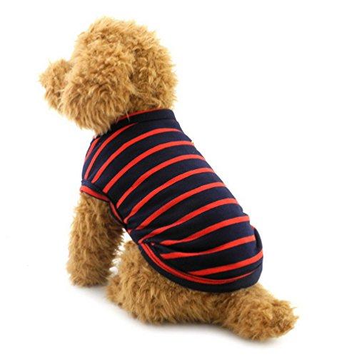selmai ropa para pequeñas de mascota Perro Algodón Camisetas De Rayas Chaleco Camiseta De Perro Chihuahua Ropa Mascota Disfraz