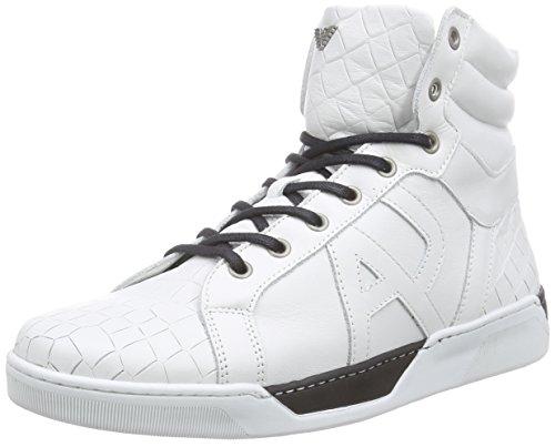 Armani C6594Y2, Baskets hautes homme Blanc - Weiß (BIANCO - WHITE F1)