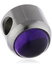 Charlotte Damen-Schmuckelement Zylinder Amethyst 91-101047