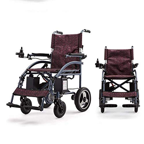 MZLJL Elektro-Rollstuhl, Intelligent Multi-Funktions-vierrädrigen Durable Elektro-Rollstühle für Behinderte Ältere Außen Folding Komfortabler Rollstuhl (Lithium-Batterie), Blau -