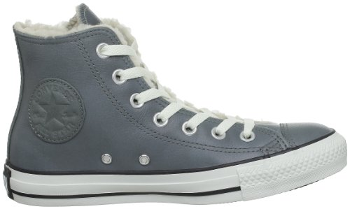 Converse Chuck Taylor All Star Shearling Leather Hi, Baskets mode mixte adulte Gris (Gris)