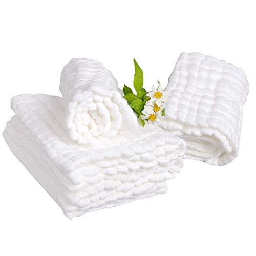 KISlink 5 Stück Baby Badetücher Baumwolle Gaze Solide New Born Baby Handtücher Ultra Soft Wasseraufnahme Baby Care