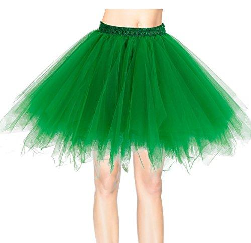Dresstells Donna Balletti Danza Tutu Gonna Annata di 50 Cocktail Swing Principessa Sottogonna Tulle Green