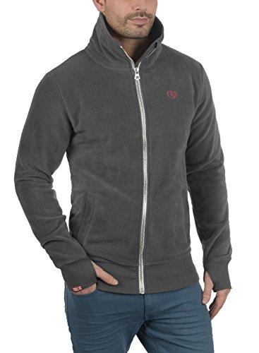 SOLID Laki Herren Sweatjacke Zip-Jacke mit Stehkragen aus hochwertiger Materialqualität Dark Grey (2890)