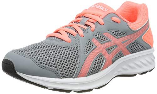 Asics Jolt 2 GS, Zapatillas de Running Unisex Niños, Gris (Sheet Rock/Sun Coral 022), 39.5 EU