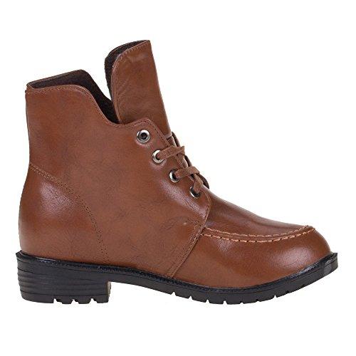 Damen Schuhe, W08, STIEFELETTEN Braun