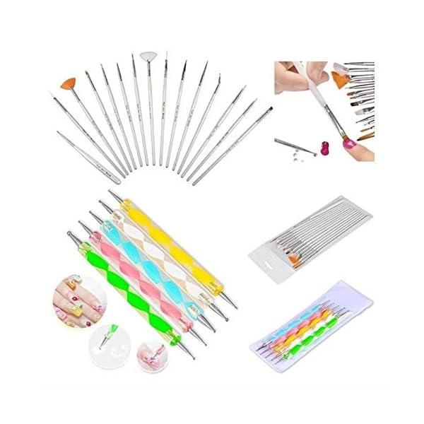 Colomba juego de herramientas para pintar uñas de 20 piezas Nail Art Dotting