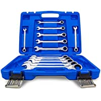 Llaves de carraca I juego de llaves combinadas de carraca 8-19 mm I juego de herramientas de 12 piezas
