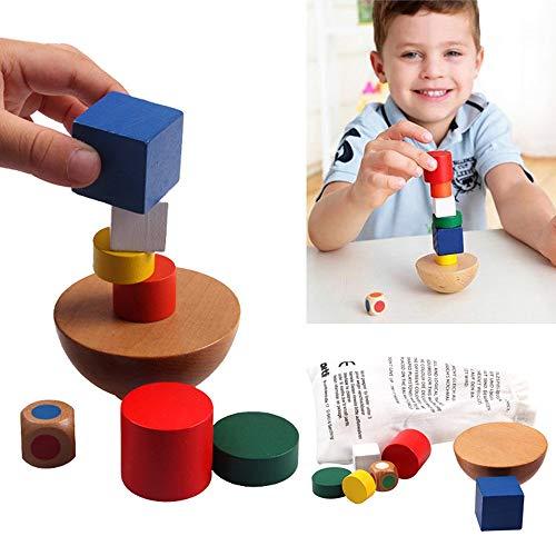 Papamsy Gleichgewicht Stapeln Holz Spielzeug Spiel der Kinder des Babys von Weiterbildung frühen Hemisphäre