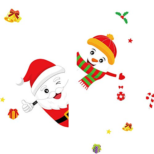 Axiba Weihnachts-Fenster-Aufkleber, abnehmbar, DIY Wandaufkleber für Weihnachten, Urlaub, Neujahr, Winterdekoration, Ornamente