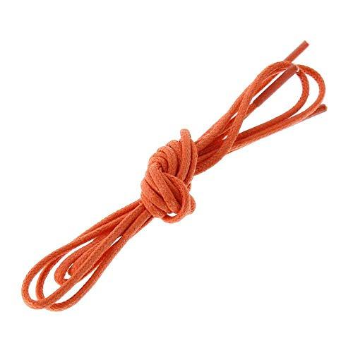 Les lacets Français - Lacets Ronds Coton Ciré Couleur Mandarine