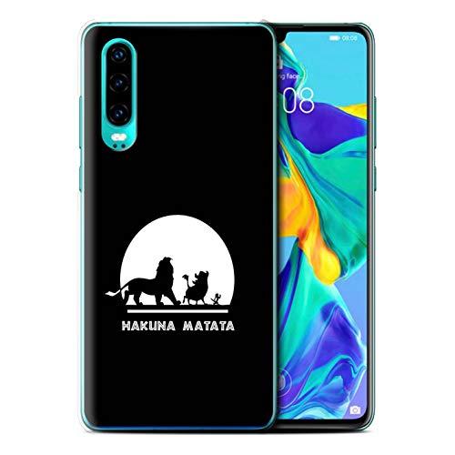 Stuff4 Coque pour Huawei P30 2019 Animaux Africains Dessin Animé Hakuna Matata Désign Transparent Etui Housse Case Rigide Ultra Mince