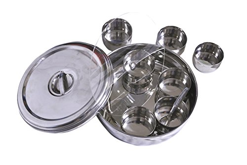 Dynamic Store Dynamic Store Large Ring Shaped Spice Box With Plastic Middle Partition Plate And Clip