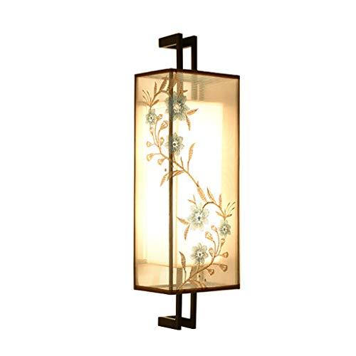 Appliques Nouveau Chinois Style E27 Mur Lampe Chambre Salon Étude Allée Éclairage UOMUN (Taille : 18 cm x 12 cm x 50 cm)
