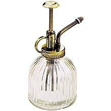owikar pulverizador cobre boquilla botella de Spray de riego de cristal Vintage estilo Bonsai Jardinería Agua regadera botella Pot ducha frasco de Perfume Jardín Decoración, transparente