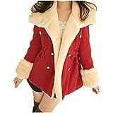 Blusas Invierno de la manera caliente de pecho doble-mezcla de lana de la chaqueta capa de las mujeres