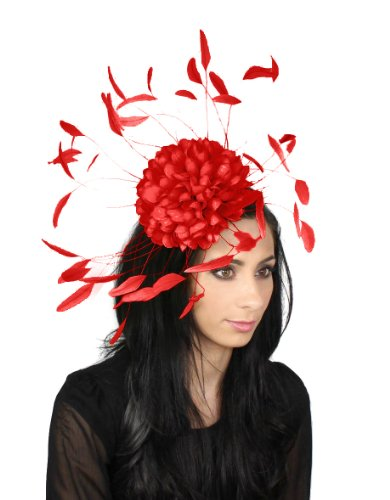 Hats By Cressida - Capeline -  Femme Rouge - Rouge