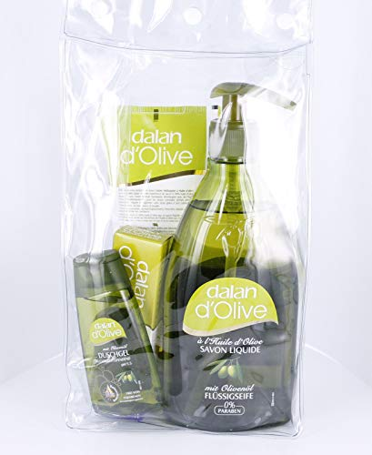 Geschenkset Dalan 5 Teile Handcreme Körpercreme Duschgel Olivenfeinseife Flüssigseife Olivenöl Intensiv Creme Türkei Olivenduft