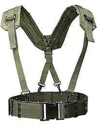 ZZYUBB Tirantes Ajustable Táctico Ligero De La Cintura del Arnés del Cinturón De Hombro Al Aire Libre Conjunto Militar De La Cintura De La Banda De Protección For Adultos (Color : Army Green)