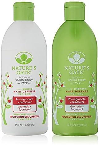 Nature's Gate Après-shampooing aux extraits de grenade et de tournesol - Ingrédients bio - Pour des cheveux plus clairs et plus chatoyants - 532 ml