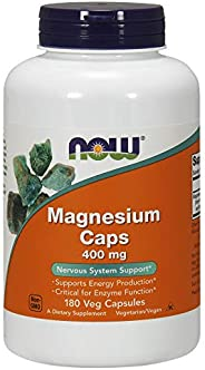 NOW Foods Magnesium 400 mg Caps, 180&#