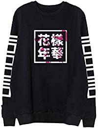 Partiss Unisex KPOP BTS Bangtan Casual Rundhals Pullover Fashion Freizeit Sweatershirt