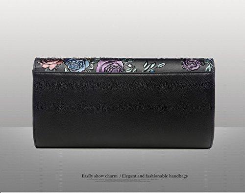 Home Monopoly Sacchetto di mano della donna della borsa Sacchetto di mano selvaggio del nuovo sacchetto di mano delle grandi borsa delle signore di capacità / con la cinghia di spalla, cinghia di pols Gold rose