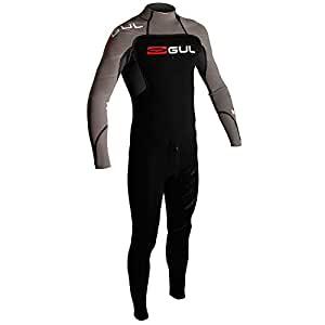 Gul Men's Profile 3/2mm Blindstitch Steamer Wetsuit - Black/Black, Small