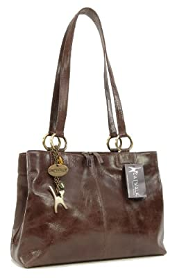 Catwalk Collection Handbags - Women's Large Vintage Leather Tote/Shoulder Bag - Bellstone
