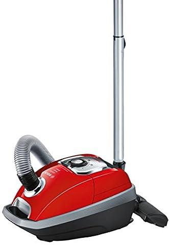 Bosch BGL8PETGB Animal Bagged Vacuum Cleaner, 5 L - Silver/Tornado Red [Energy Class C]