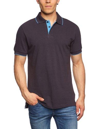 James & Nicholson Herren Poloshirt Polo Campus grau (graphite/aqua) X-Large (Herren-polo-polos)