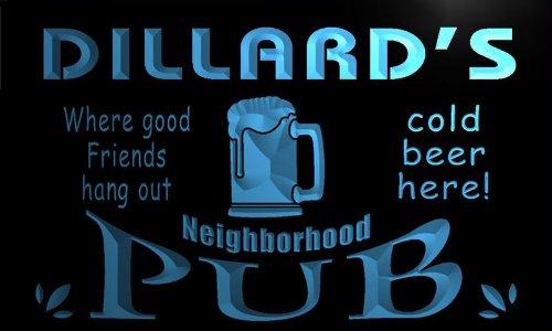 enseigne-lumineuse-pg1882-b-dillards-neighborhood-home-bar-pub-beer-neon-light-sign