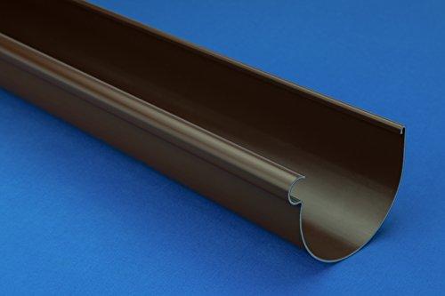 10 Meter PVC Dachrinnen RainWay Regenrinne Regen System Ø90mm DACHRINNE braun