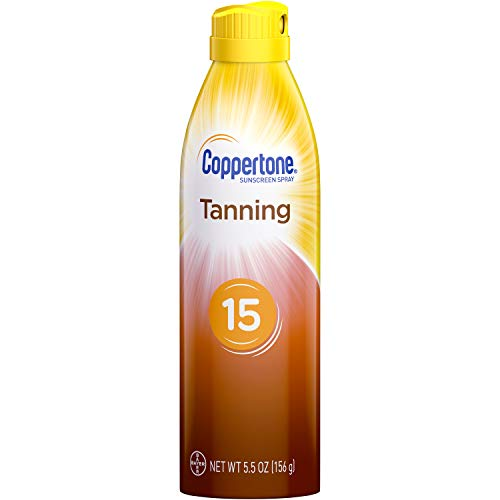 Coppertone Tanning Defend & Glow Sunscreen Continuous Spray Broad Spectrum SPF 15, 5.5 Ounces -