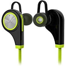 traxandco tc-q9Bluetooth 4.1Inalámbrico Deportes Auriculares Auriculares Auriculares estéreo Auriculares para Correr para iPhone y Android Smartphones (Verde)